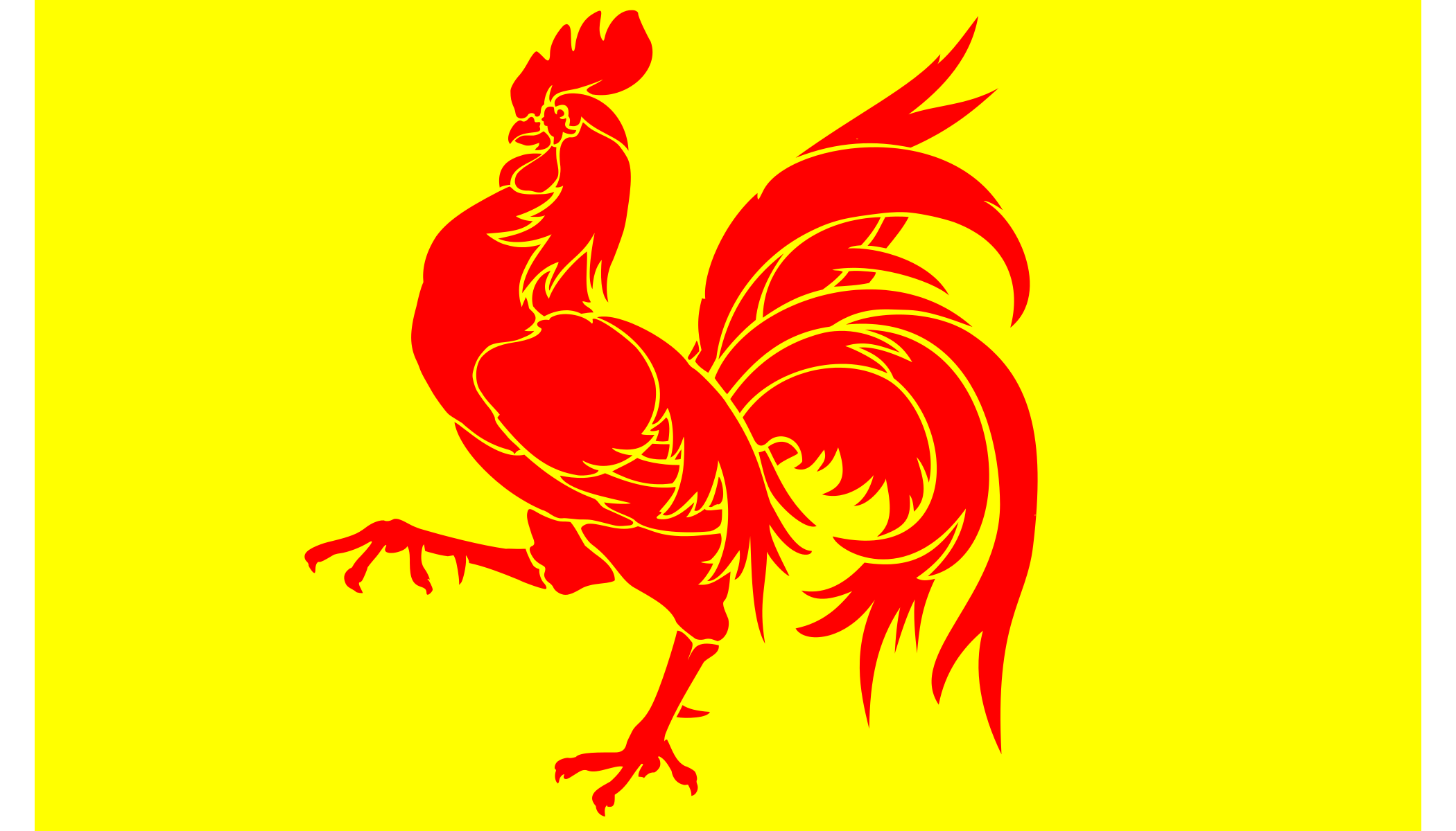 Flag of Wallonia Belgium